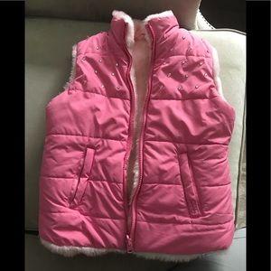 Girls reversible vest. Children's Place size 7/8